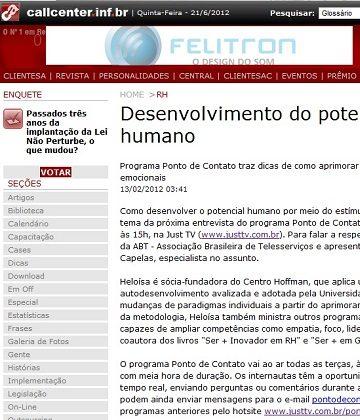 Portal Callcenter – entrevista sobre o Potencial Humano