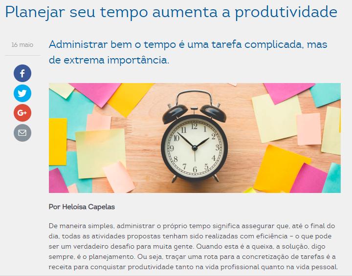Planejar seu tempo é fundamental para a produtividade