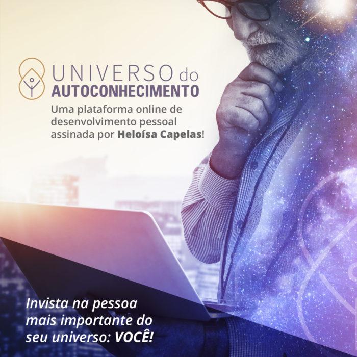 Universo do Autoconhecimento, uma plataforma de conteúdos online concebidos para o seu desenvolvimento pessoal e profissional